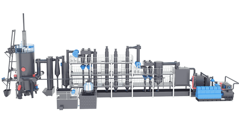 Biomass gasification power generation